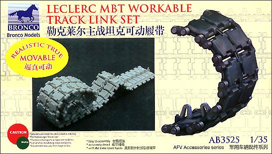 Bronco Models 1/35 Leclerc MBT Workable Track Link Set