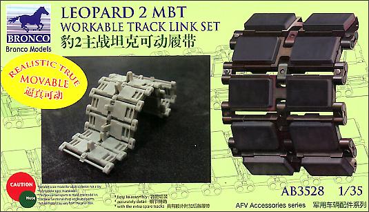 Bronco Models 1/35 Leopard 2 MBT Workable Track Link Set