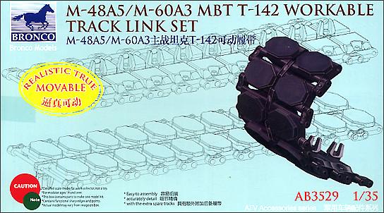 Bronco Models 1/35 M-48A5/M-60A3 MBT T-142 Workable Track Link Set