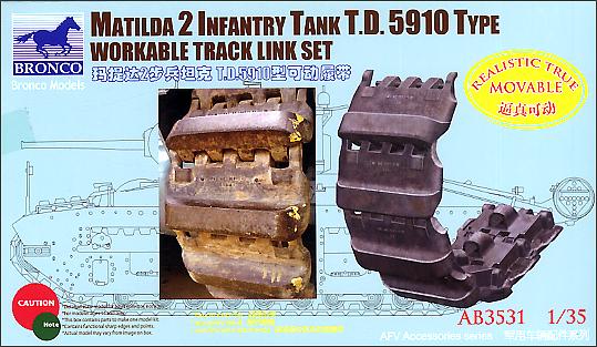 Bronco Models 1/35 Matilda 2 Infantry Tank T.D. 5910 Type Workable Track Link Set
