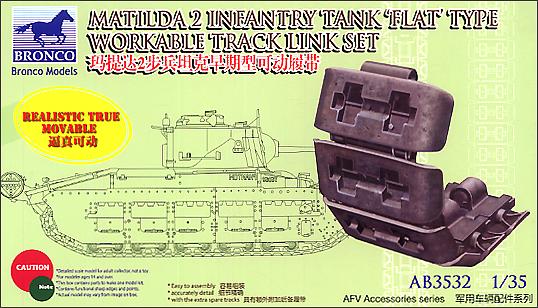 Bronco Models 1/35 Matilda 2 Infantry Tank Flat Type Workable Track Link Set