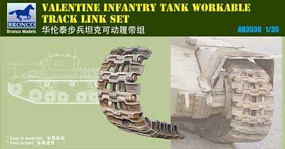 Bronco Models 1/35 Valentine Infantry Tank Workable Track link Set