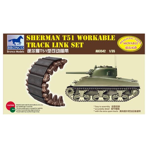 Bronco Models 1/35 Sherman T51 Workable Track Link Set