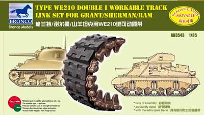 Bronco Models 1/35 Type WE210 Double I Workable Track Link Set for Sherman/Grant/Ram