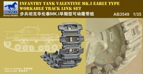 Bronco Models 1/35 Infantry Tank Valentine Mk. I (Early Type) Workable Track Link Set
