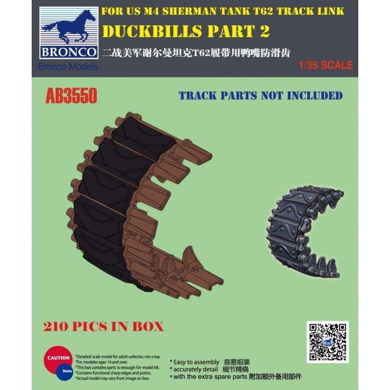 Bronco Models 1/35 Duckbills part 2 For US M4 Sherman Tank T62 Track Link