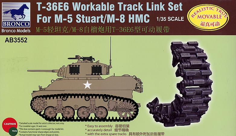 Bronco Models 1/35 T-36E6 Workable Track Link Set For M-5 Stuart/M-8 HMC