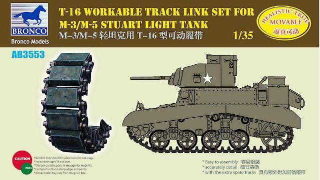 Bronco Models 1/35 T-16 Workable Track Link Set for M-3/M-5 Stuart Light Tank