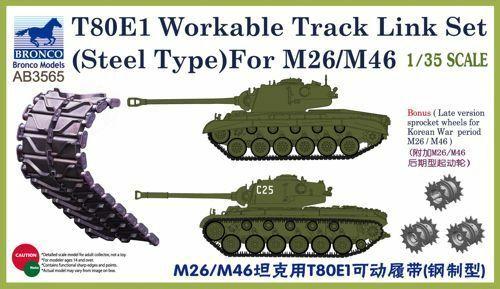 Bronco Models 1/35 T-80E1 Workable Track Link Set (Steel Type) For M26/M46