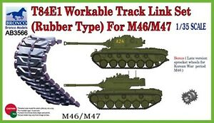 Bronco Models 1/35 T-84E1 Workable Track Link Set (Rubber Type) For M46/M47