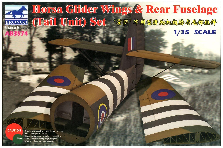 Bronco Models 1/35 Horsa Glider Wing & Rear Fuselage (Tail Unit) Set