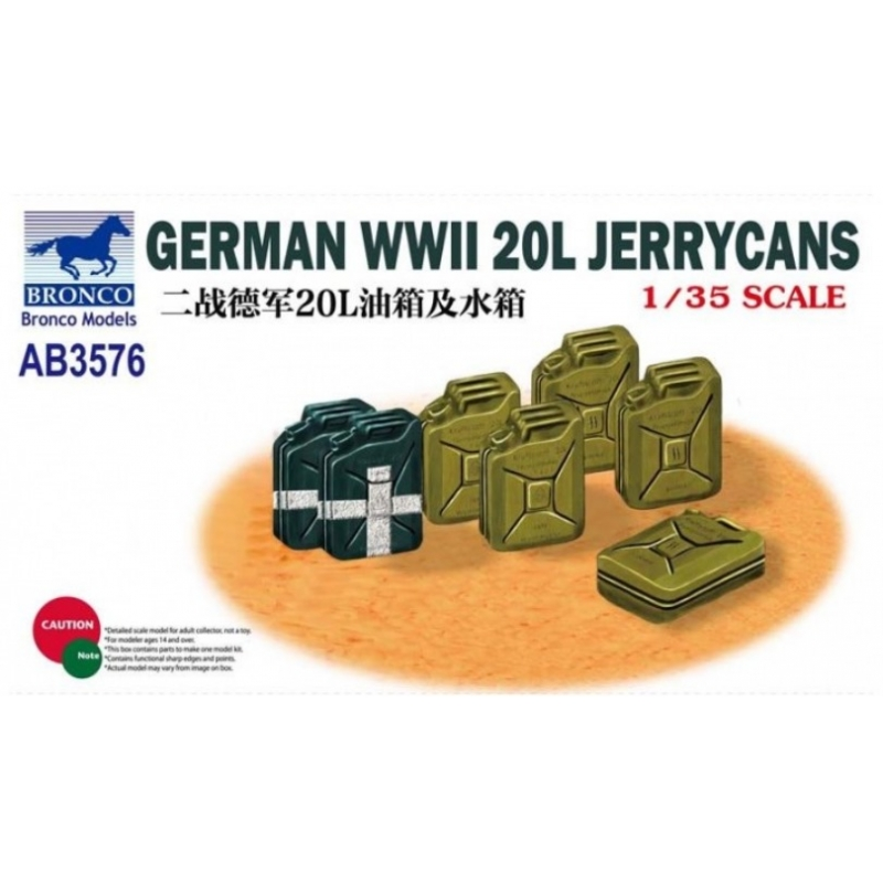 Bronco Models 1/35 GERMAN WWII 20L Jerrycans