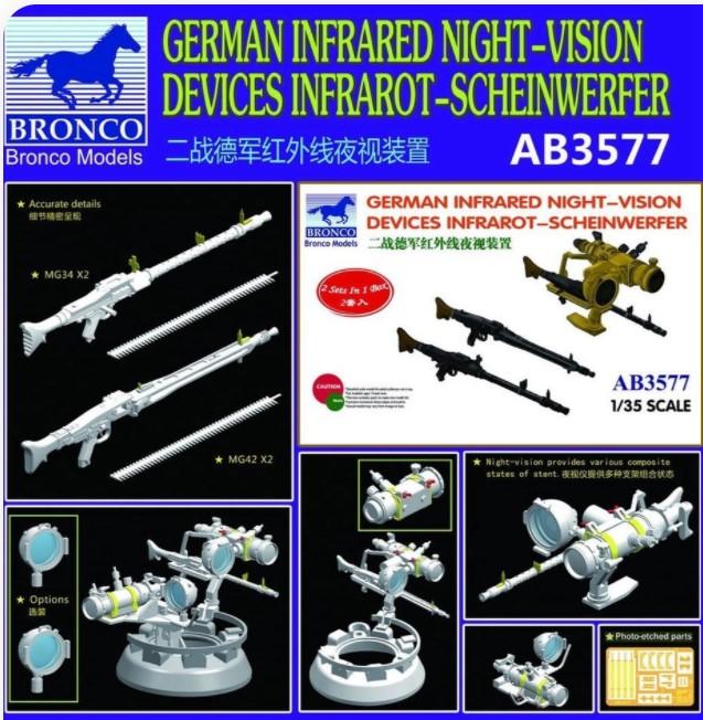Bronco Models 1/35 German Infrared Night-Vision Devices Infrarot-Scheinwerfer