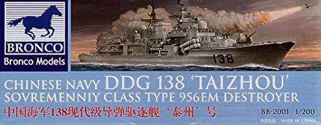 Bronco Models 1/200 Chinese Navy DDG 138 TAIZHOU Sovremenniy Class Type 956EM Destroyer
