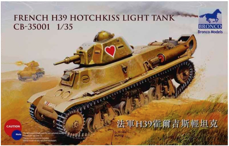 Bronco Models 1/35 French H39 Hotchkiss Light Tank