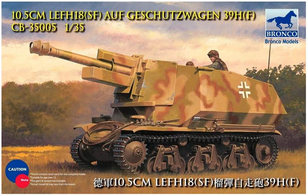 Bronco Models 1/35 10.5cm leFH18(Sf) auf Geschutzwagen 39H(f)