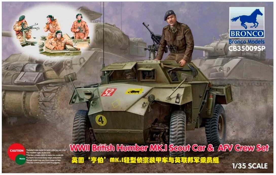 Bronco Models 1/35 WWII British Humber MK.I Scout Car & AFV Crew Set