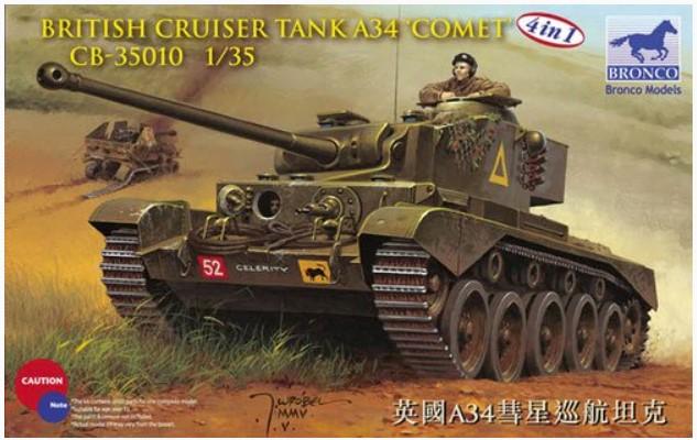 Bronco Models 1/35 British Cruiser Tank A34 Comet