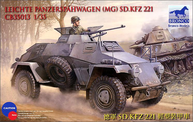 Bronco Models 1/35 Sdkfz 221 Armored Car
