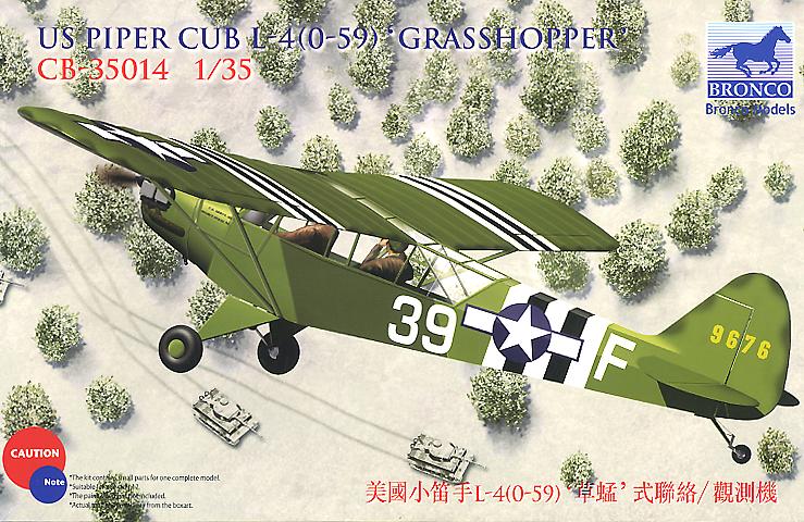 Bronco Models 1/35 US Piper Cub L-4(0-59) Grasshopper Aircraft