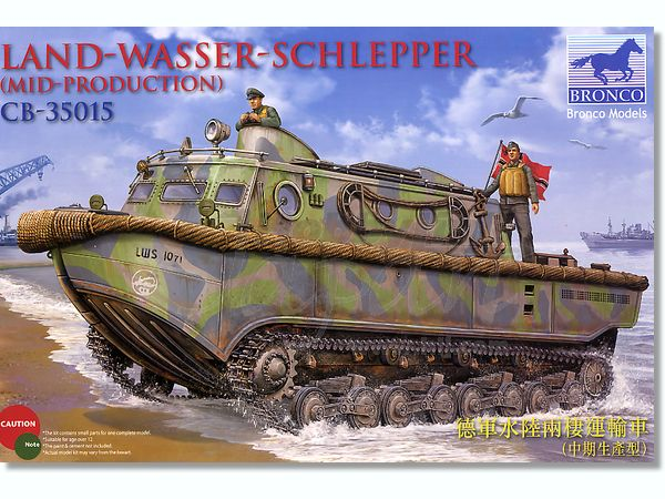 Bronco Models 1/35 Land-Wasser-Schlepper (Middle Production) Utility Vehicle