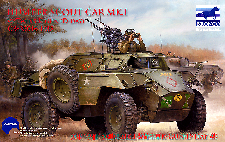 Bronco Models 1/35 Humber Scout Car Mk. I w/ Twin K-Gun D-Day Ver Armoured Car