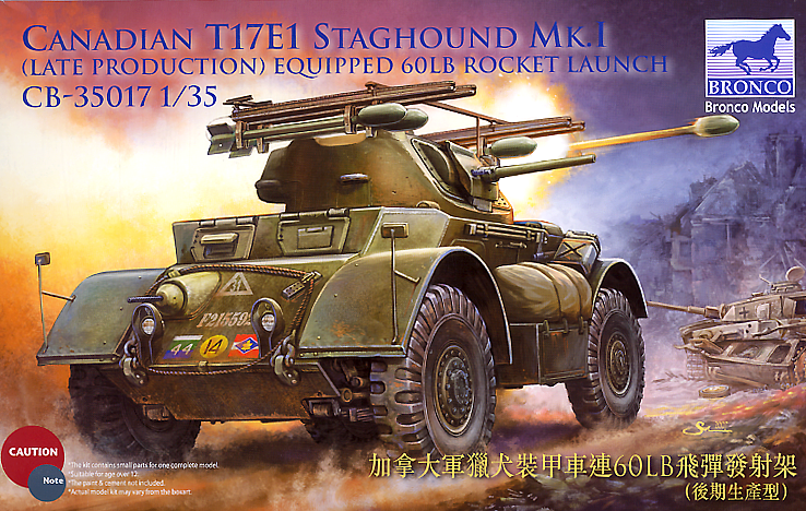 Bronco Models 1/35 Canadian T17E1 Staghound Mk.I Late Prod w/ 60Lb Rocket Launchers