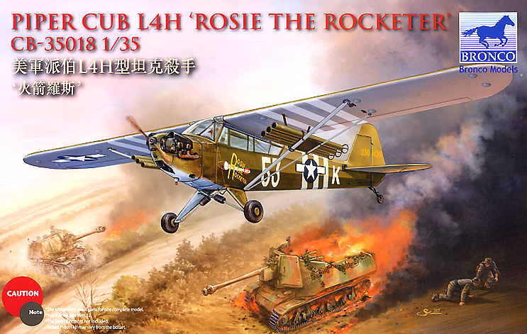 Bronco Models 1/35 Piper Cub L4H Rosie The Rocketeer Aircraft Model Kit