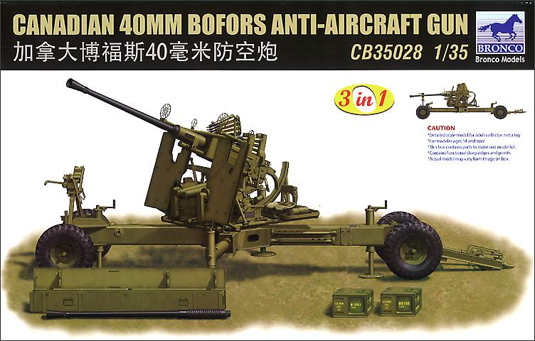 Bronco Models 1/35 Canadian 40mm Bofors Anti-Aircraft Gun