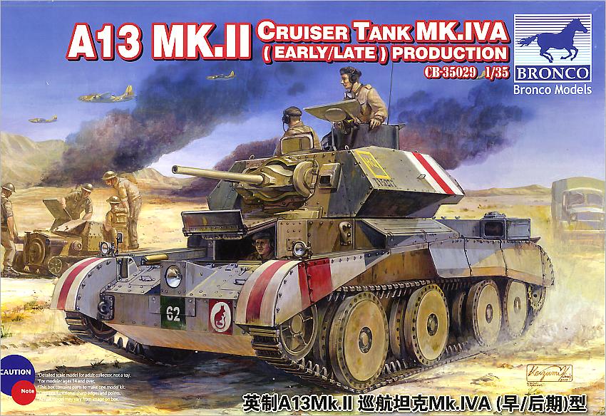 Bronco Models 1/35 A13 Mk.II Cruiser Tank Mk.IVA (Early/Late) Production