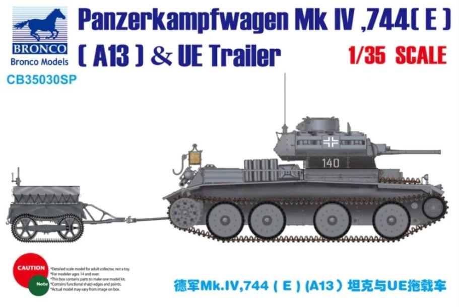 Bronco Models 1/35 Panzerkampfwagen Mk.IV, 744(E)(A13) & UE Fuel Tank Trailer, Special Edition