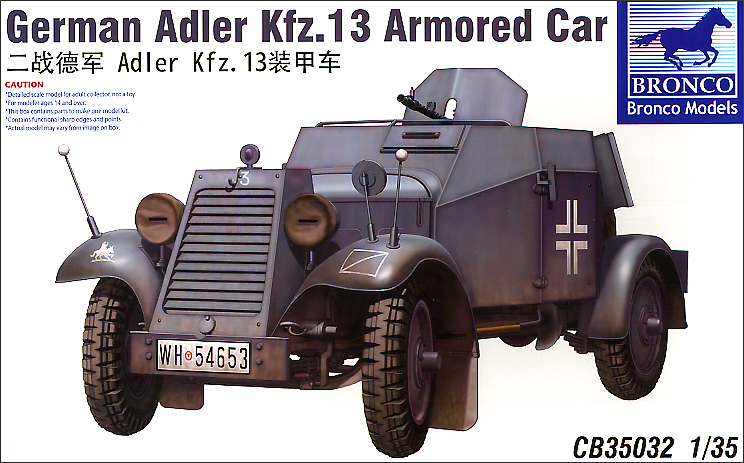 Bronco Models 1/35 German Adler Kfz.13 Armoured Car