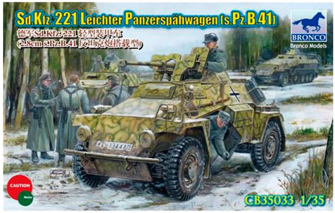 Bronco Models 1/35 Sd.Kfz.221 Leichter Panzerspahwagen (s.Pz.B.41) Armoured Car