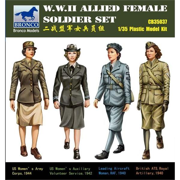 Bronco Models 1/35 WWII Allied Female Soldier Set (4 figures)