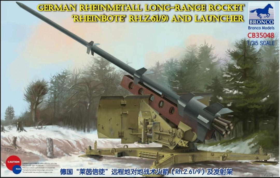 Bronco Models 1/35 German Rheinmetall Long-Range Rocket Rheinbote (Rh.Z.61/9) and Launcher