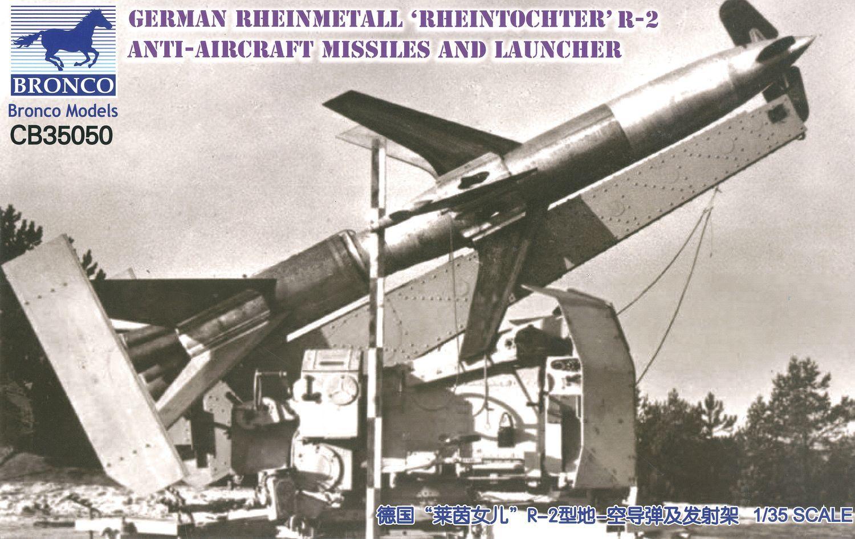 Bronco Models 1/35 German Rheinmetall 'Rheintochter' R-2 anti-aircraft missiles and launcher