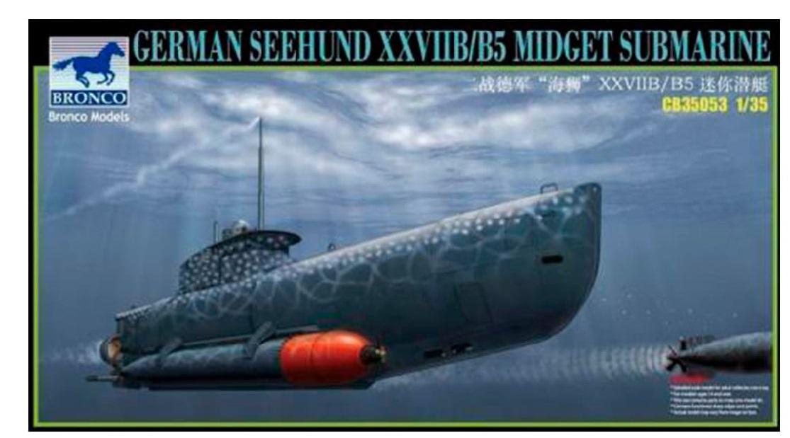 Bronco Models 1/35 German Seehund XXVII B/B5 Midget Submarine (2 in 1)