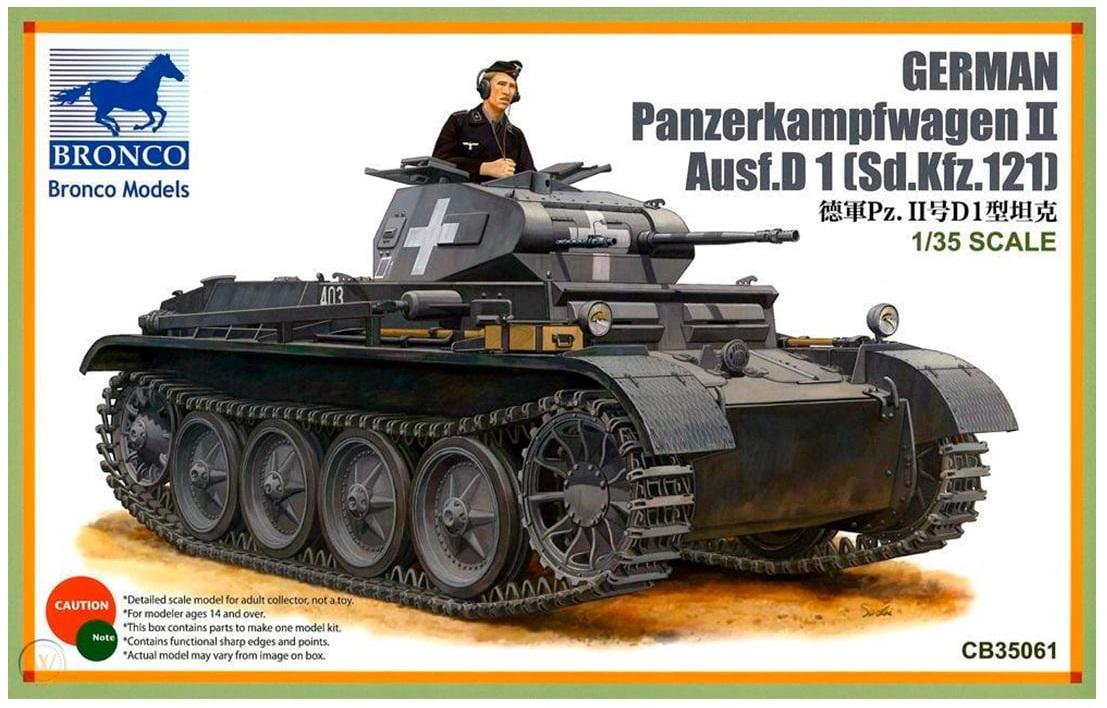 Bronco Models 1/35 German PanzerKampfwagen II Ausf.D1(Sd.kfz.121) Tank Model Kit