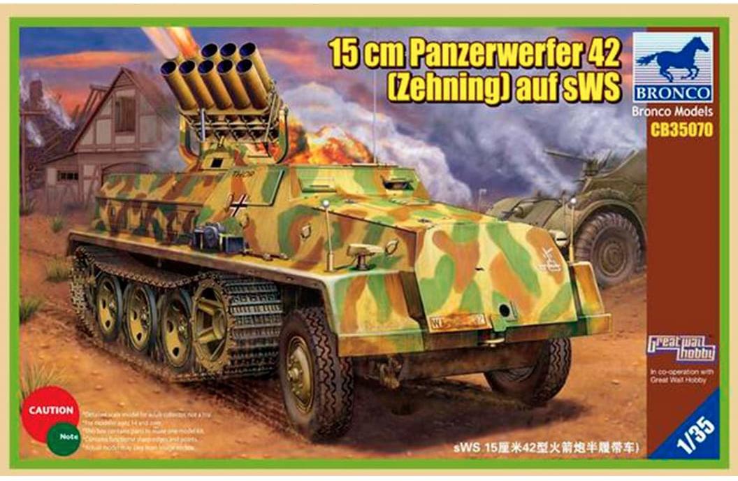 Bronco Models 1/35 15cm Panzerwerfer 42 (Zehnling) auf sWS