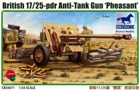 Bronco Models 1/35 British 17/25 pdr Anti-Tank Gun PHEASANT Cannon Kit