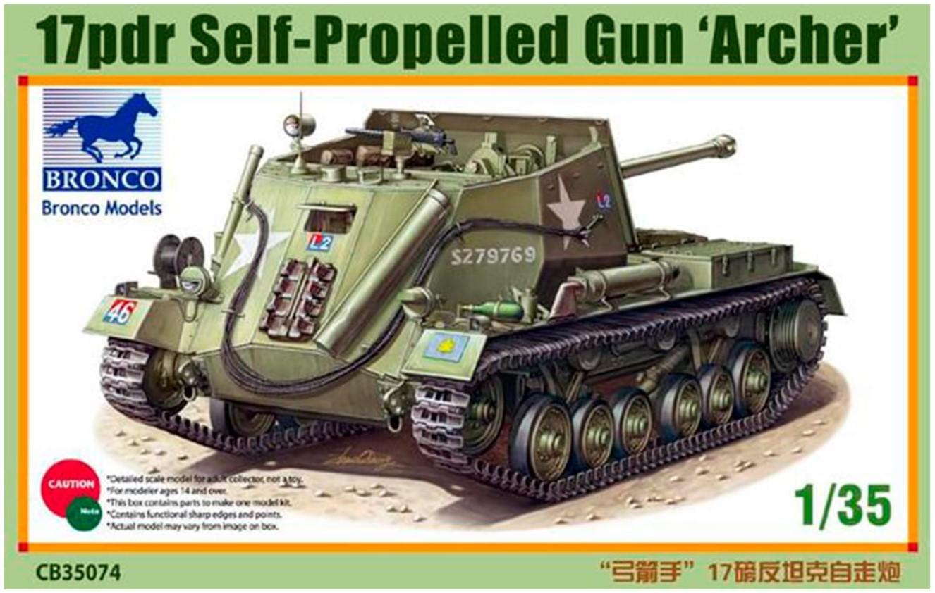 Bronco Models 1/35 17pdr Self-Propelled Gun Archer