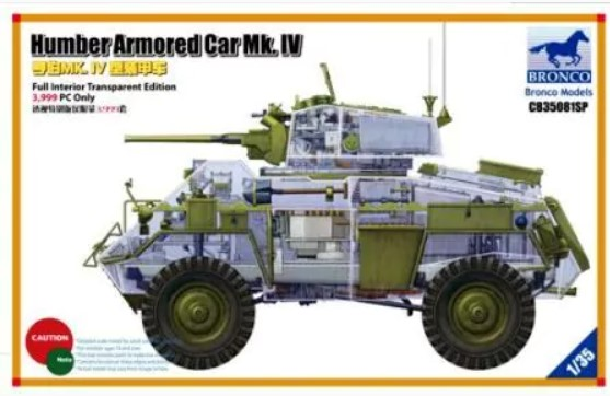 Bronco Models 1/35 Humber Armored Car Mk. IV (Full Interior Transparent Edition)
