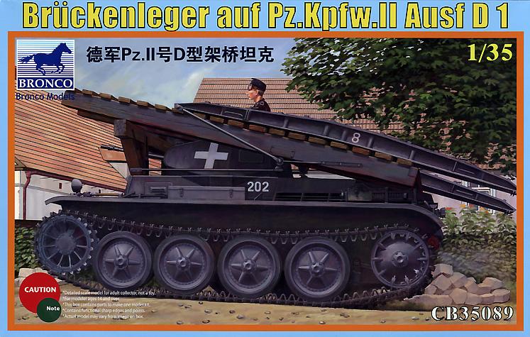 Bronco Models 1/35 Bruckenleger auf pz.Kpfw. II ausf D1 German Tank Model Kit
