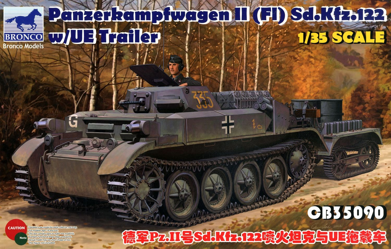 Bronco Models 1/35 PzKpfw. II(FI) Sd.Kfz.122 w/ UE Trailer Military Vehicle Kit