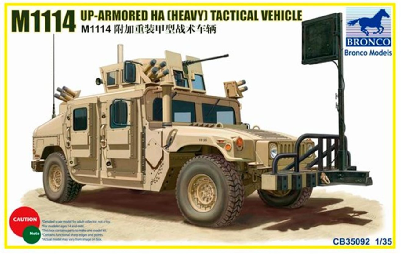 Bronco Models 1/35 M1114 Up-Armoured HA Heavy Tactical Vehicle Model Kit