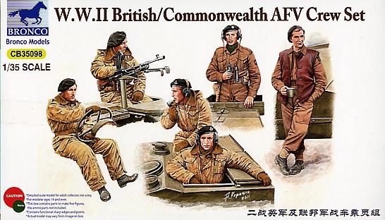Bronco Models 1/35 WWII British/Commonwealth AFV Crew set