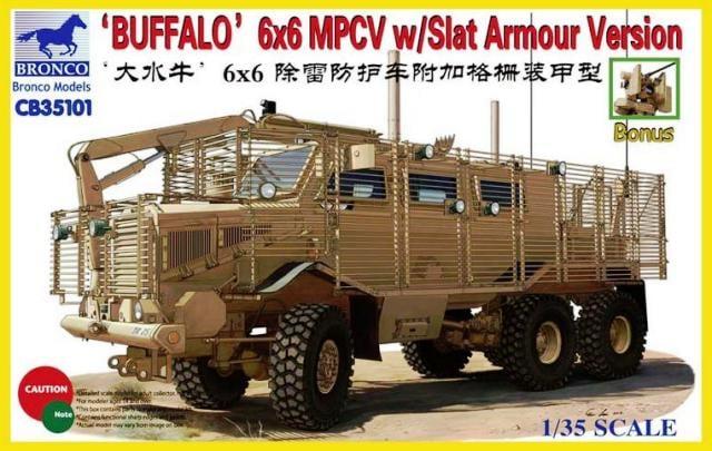 Bronco Models 1/35 Buffalo 6x6 MPCV w/ Slat Armour Version Armoured Car