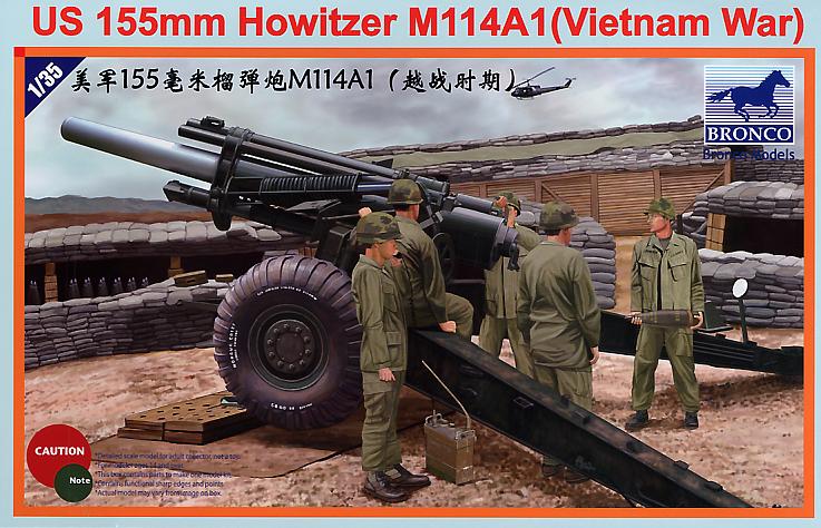 Bronco Models 1/35 US 155mm Howitzer M114A1 (Vietnam War)