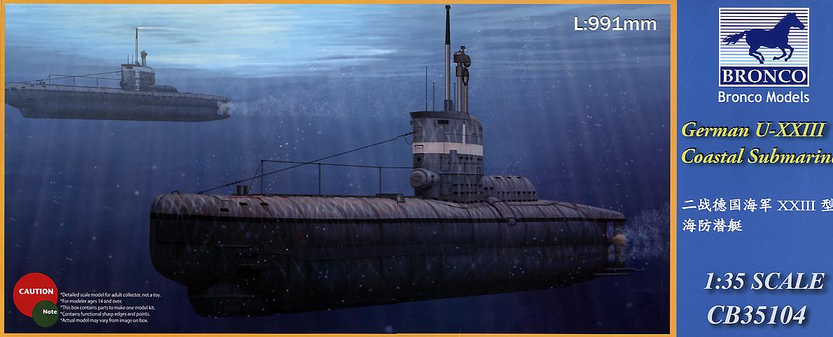 Bronco Models 1/35 German U- XXIII Coastal Submarine