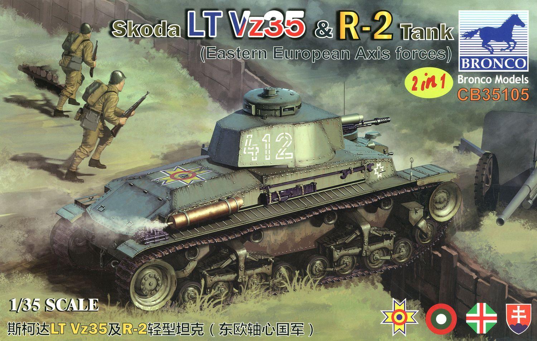 Bronco Models 1/35 Skoda LT Vz35 & R-2 Tank 2in1 (Eastern European Axis forces)